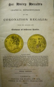 """1821 (2nd) ed. title-page, with George IV's """"Coronation Medal"""""""