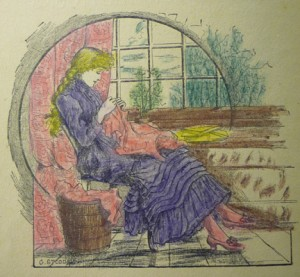 Frontispiece ill. (signed by Stoddard) hand-colored by a child-reader.