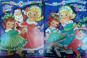 The hair styles of Little Miss Christmas and Holly-Belle seem to be the only constants in these two cover designs.