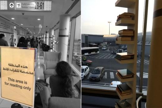 reading area, Abu Dhabi International Airport