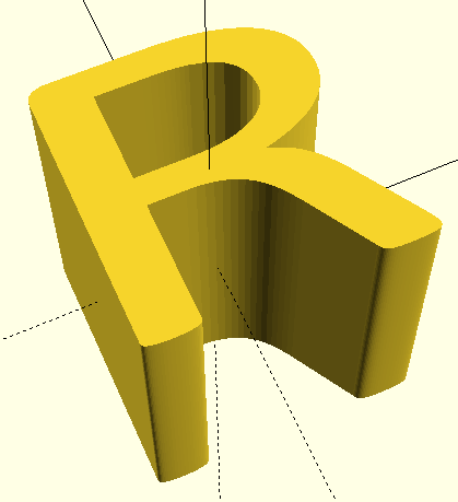 3D Scaled Letter