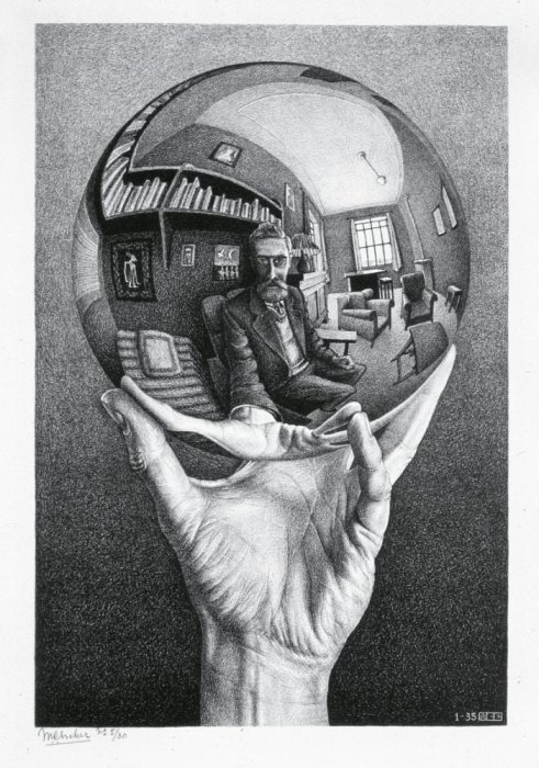 Looking Glass, by MC Escher