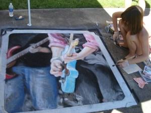 Jaime's finished chalk art