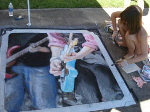Jaime's finished chalk art