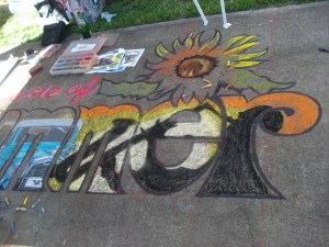 Another portion of Cathy's chalk masterpiece in progress