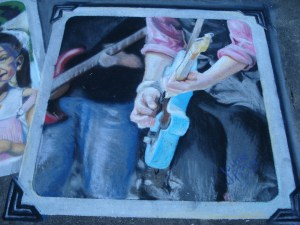 Jaime's chalk art - finished and signed!