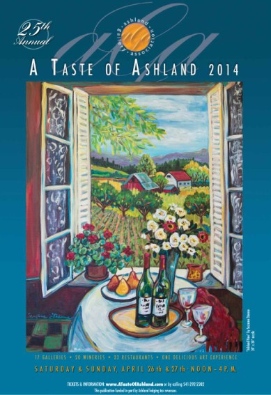 Taste of Ashland Food Wine and Art Festival Poster 2014