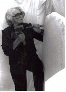 JEGA Gallery - J. Ellen Austin with Sculpture