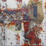 Inner Door, Encaustic by Elaine Frenett