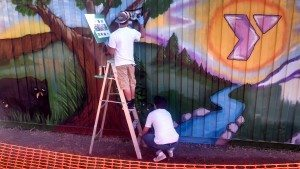 YMCA Mural Work, Jose and EMA