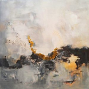 Keep Going, abstract painting in acrylic by Alx Fox