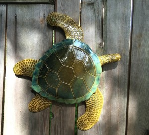 Ashland Gallery Association July Exhibits: New tortoises by clay artist, Marydee Bombick