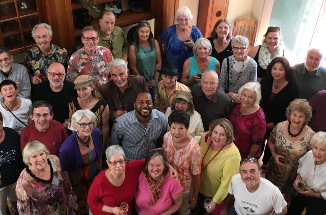 Ashland New Plays Festival Announces Winning Playwrights: Artistic Director Kyle Haden (center) and the ANPF 2016 readers. Image by Chela Sanchez