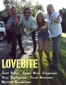 Image showing members of the band LoveBite