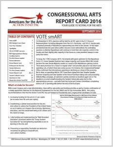 Congressional Arts Report Card 2016