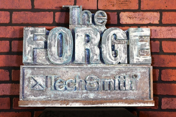 Sign Dan made for The Forge