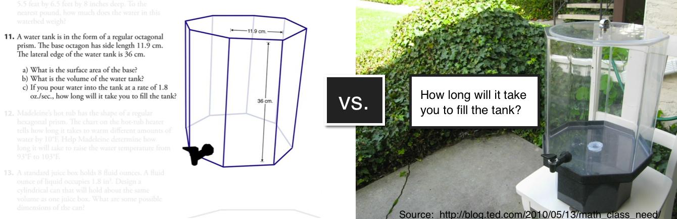 Screenshots from Dan Meyer's TED talk