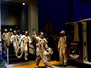 Apollo 11 footage of first steps on the moon