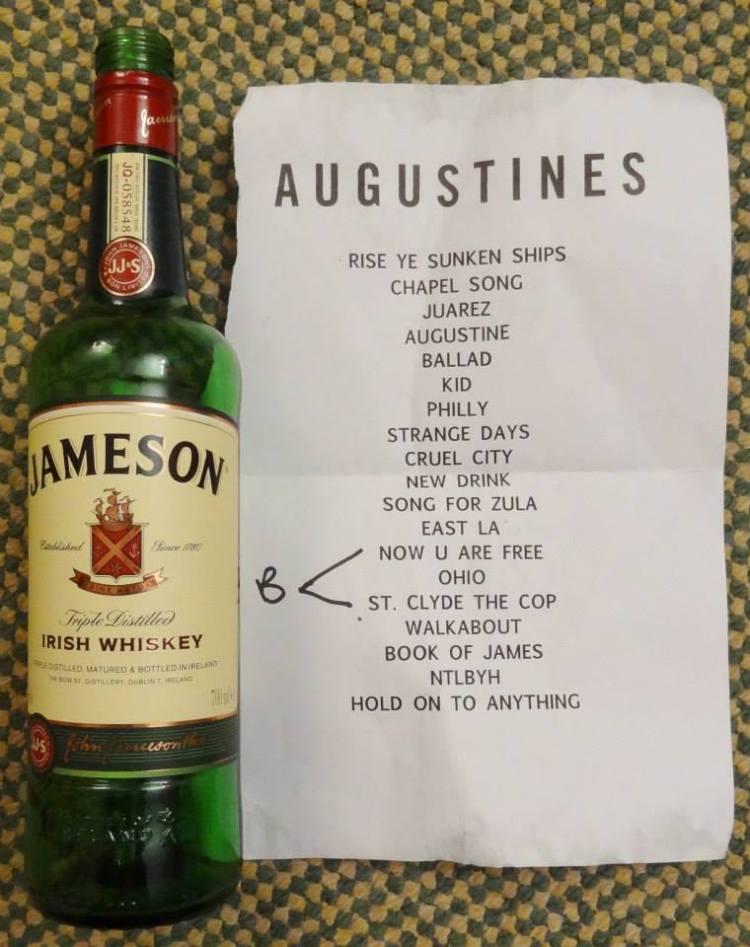 Augustines Setlist