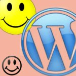 smiley face wordpress footer