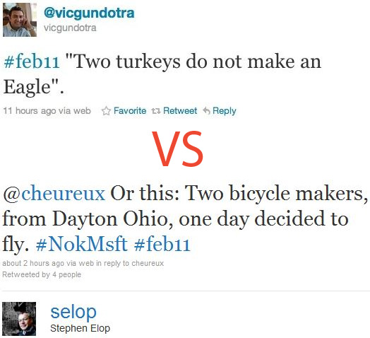 Vic Gundtora Versus Stephen Elop (Twitter)