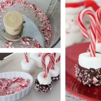 Candy Cane Marshmallows for Your Hot Cocoa