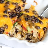 Hidden Valley Ranch Black Bean & Veggie Tortilla Casserole Recipe #RanchRemix