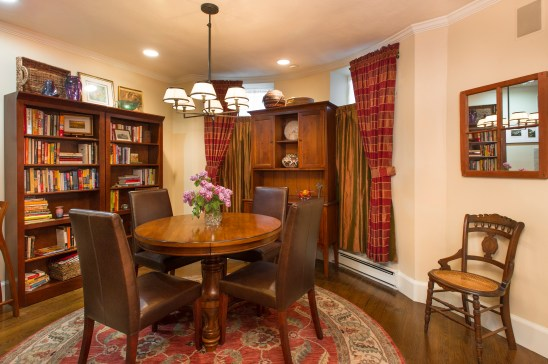 Dining room in condo in Boston