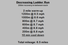 Revisiting a Ladder Workout on the Treadmill