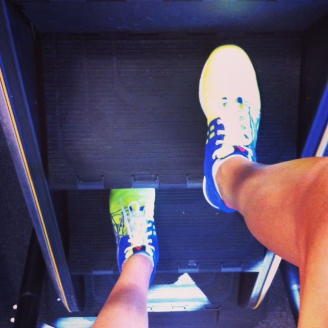 Stairmill and Reebok CrossFit Speed Nanos