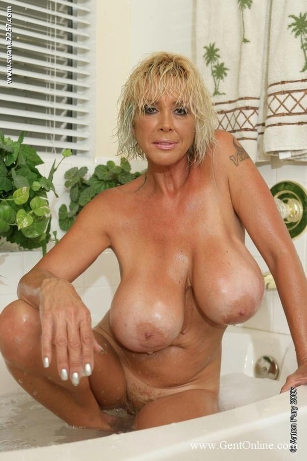 huge mature tits public