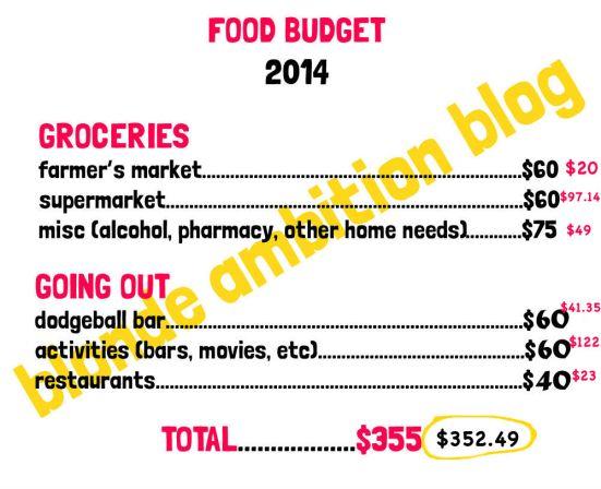 foodbudget february