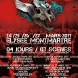Le Paris Extreme Fest deuxime dition confirme sa setlist du 25 au 27 Mars 2011 : 25 mars : Obituary, Devin Townsend, Grave, Sylosis5, Mekong Delta, Dagoba, Lazarus AD, Bonded...