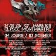 Le Paris Extreme Fest deuxième édition confirme sa setlist du 25 au 27 Mars 2011 : 25 mars : Obituary, Devin Townsend, Grave, Sylosis5, Mekong Delta, Dagoba, Lazarus AD, Bonded...
