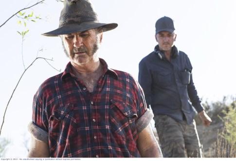 Wolf-Creek-2_John Jarratt as Mick Taylor with Director Greg Mclean 2