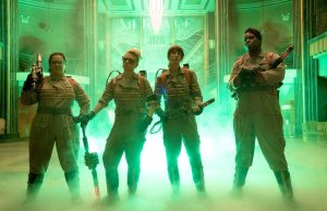 Melissa McCarthy, Kristen Wiig, Kate McKinnon, and Leslie Jones in GHOSTBUSTERS | via Sony and Columbia Pictures