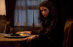 "Kaniehtiio Horn in a scene from Netflix's ""Hemlock Grove"" Season 2. Photo Credit: Steve Wilkie for Netflix."