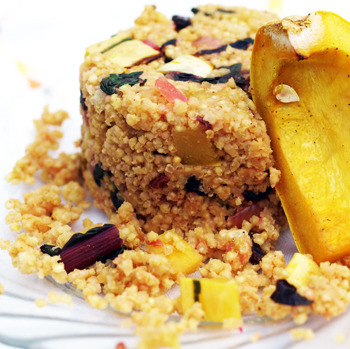 Warm Curried Millet Salad with Delicata Squash