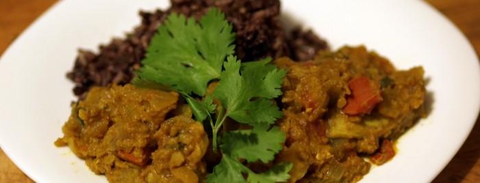 Kohlrabi Dal & Aromatic Rice