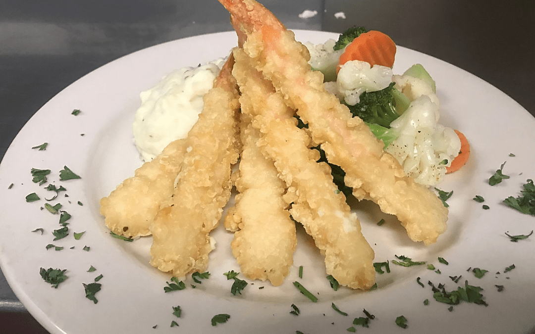 September Seafood Special – Tempura Battered Shrimp Skewers