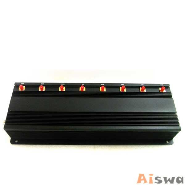 Profissional 8 antenas Refrigerado de Bloqueador de UHF VHF Celular GSM-GPS-3G-UHF-VHF-Lojack 2