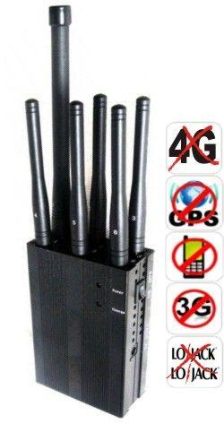BLOQUEADOR DE CELULAR LOJACK GPS 4G E 3G 06 ANTENAS