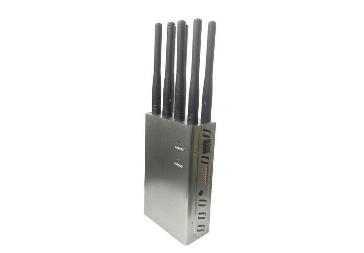Inhibidor Portátil 8 antenas Telefonía y RF