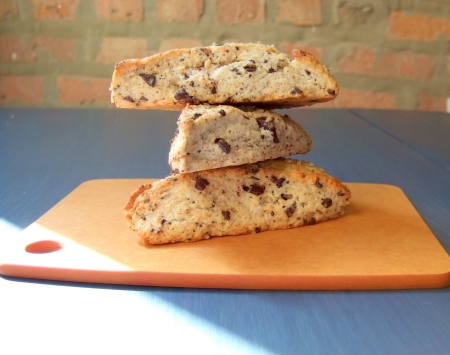 Chocolate Chunk Scones. A great way to sneak chocolate into your breakfast. From Blossom to Stem | Because Delicious www.blossomtostem.net