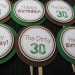 Dirthy Thirty Cupcake toppers