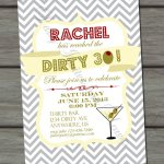 Dirty Thirty Birthday Invitation