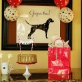 Bone Biscuit covered Dog birthday cake