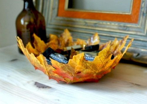 DIY Fall Leaf Bowl
