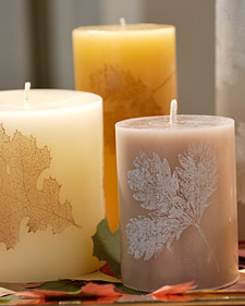 DIY Leaf Candles
