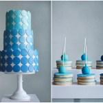 Blue Ombre Dessert Table